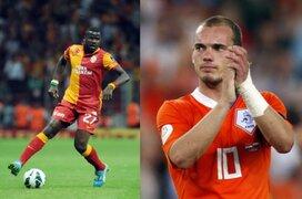 Wesley Sneijder y Emmanuel Ebué casi se pelean en entrenamiento del Galatasaray