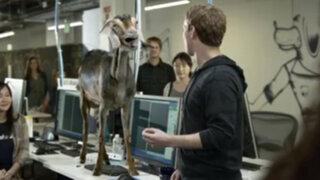 Mark Zuckerberg junto a una cabra en novedoso anuncio de Facebook