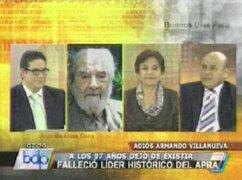 Cabanillas: Villanueva fue un luchador por la democracia