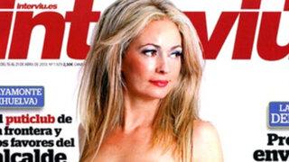 Ex consejal española genera polémica con fotos desnuda para revista