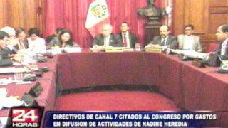 Interpelarán a directivos de TV Perú por gastos en difusión a Nadine Heredia
