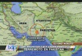 Terremoto mortal de 7.8 sacude la frontera de Irán y Pakistán