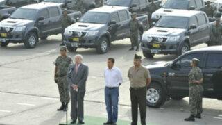 Presidente Humala entregó 42 nuevas camionetas militares en el Vraem