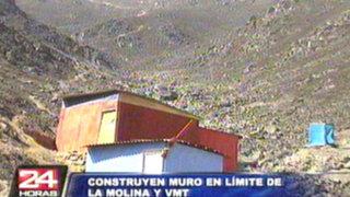 La Molina: vecinos saludan iniciativa de muro que impedirá invasiones