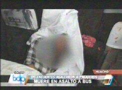 Asalto a bus interprovincial en Huacho acaba con un muerto y un herido