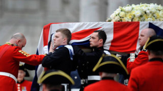 Más de 700 militares escoltaron el funeral de Margaret Thatcher