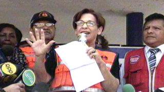 Alcaldesa de Lima participó en simulacro de sismo en colegio del Cercado