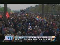 Miles de franceses protestaron contra el matrimonio homosexual