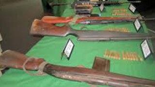 Huánuco: Militares recuperaron armas abandonadas por narcotraficantes
