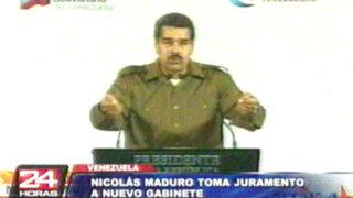Maduro designó a su nuevo gabinete e hizo cambios en varios ministerios