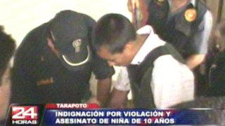 Tarapoto: pobladores indignados por violación y asesinato a una niña