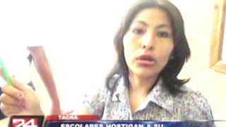 Tacna: alumnos hostigan a su maestra dentro de salón de clases