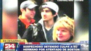 Estados Unidos: sospechoso culpó a su hermano de atentado en Boston