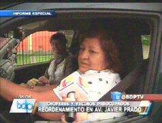 San Isidro: vecinos protestan por reordenamiento vehicular en Av. Javier Prado