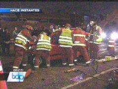 Aparatoso accidente en la Panamericana Sur dejó un muerto y dos heridos