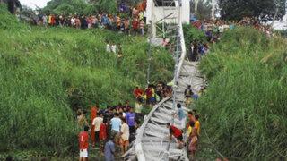 Tailandia: Caída de puente dejó muertos, heridos y decenas de desaparecidos