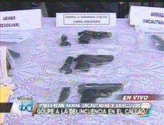 Callao: Policía recupera abundante armamento y vehículos robados
