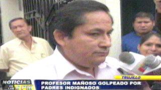 Noticias de las 7: Padres indignados golpean a profesor mañoso de Trujillo
