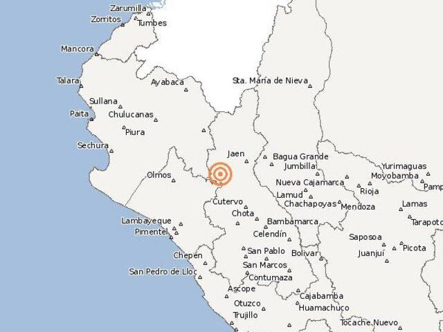 Un movimiento telúrico sacudió Cajamarca esta mañana