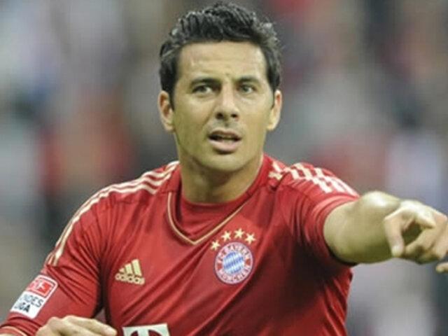 Entrenador del Bayern no descarta a Pizarro como titular ante Barcelona
