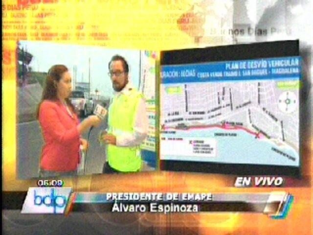 Emape cerrará a partir del 2 de mayo la Bajada Sucre por obras en Costa Verde