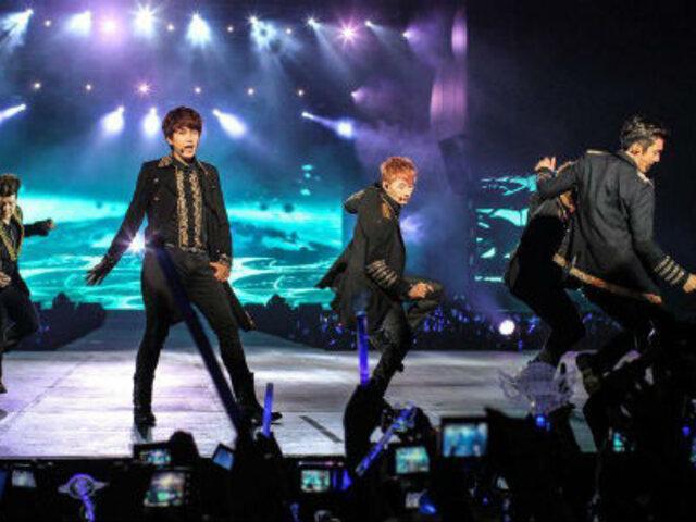 Super Junior desató la euforia entre sus fans en el Jockey Club