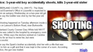 EEUU: menor mató a su hermana de dos años con fusil que le regalaron