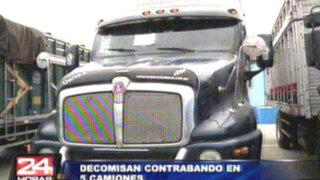 Decomisan contrabando de camiones valorizados en más de 60 mil dólares