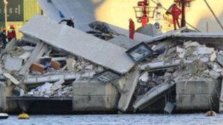 Italia: Choque de barco contra torre del puerto de Génova dejó tres muertos