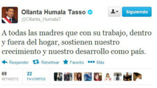 Presidente Humala envió un saludo por adelantado a las madres peruanas