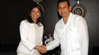 Ollanta Humala recibió en Palacio a mandataria costarricense Laura Chinchilla