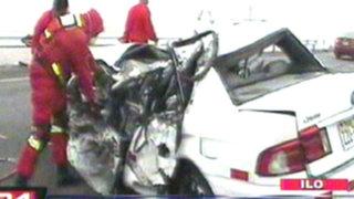 Moquegua: accidente deja dos muertos en la vía de penetración a Ilo