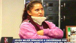 Universitaria discriminada llevará su demanda ante la Defensoría del Pueblo