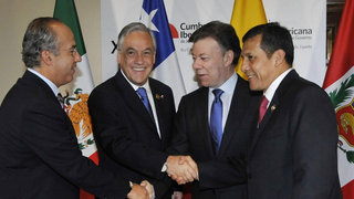 Ollanta Humala inicia disertación en la VII Cumbre Alianza del Pacífico