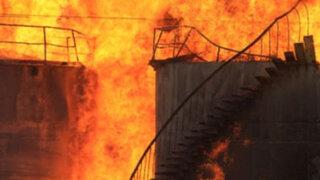 Brasil: gigantesco incendio consumió seis depósitos de combustible