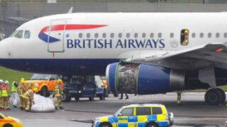 Londres: avión perdió motor en pleno vuelo y tuvo que aterrizar de emergencia