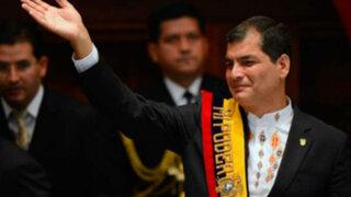Rafael Correa asume por tercera vez la presidencia de Ecuador