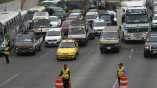 Tránsito será restringido durante 25 días en la Panamericana Sur y Norte