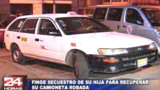 Taxista sera denunciado por fingir secuestro de su hija y recuperar su auto