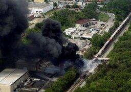 Explosión de tren causó pánico en Estados Unidos