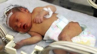 China: se recupera el bebé que fue rescatado de una tubería