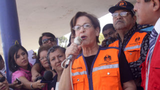 Susana Villarán señaló dificultades en el primer simulacro de sismo