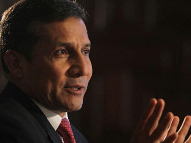 Humala negó conspiraciones políticas en pedido de acusación a Alan García