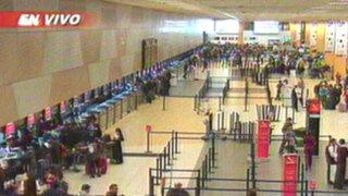 Actividades regresaron a la normalidad en el Aeropuerto Jorge Chávez