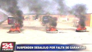 Cientos de pobladores se atrincheran ante violento desalojo en Chilca