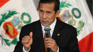 Presidente Humala: Está claro que Movadef no es un movimiento democrático