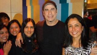 Nadine Heredia tuvo encuentro casual con John Travolta