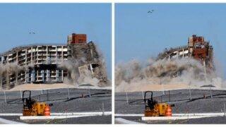 Nueva York: destruyen edificio de once pisos para hacer un parque