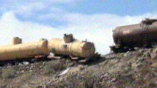 Arequipa: se descarrila tren con más de 8,000 galones de petróleo