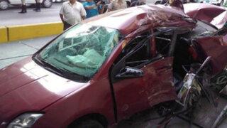 Imprudencia de conductor provoca accidente de tránsito en Miraflores